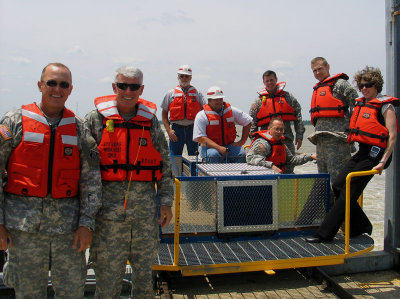 Corps Commander Tours Bonnet Carre Spillway-April 28, 2008