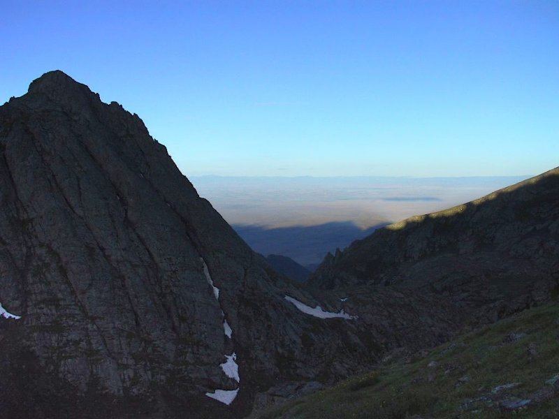 View of San Luis Valley and San Juans on Skyline