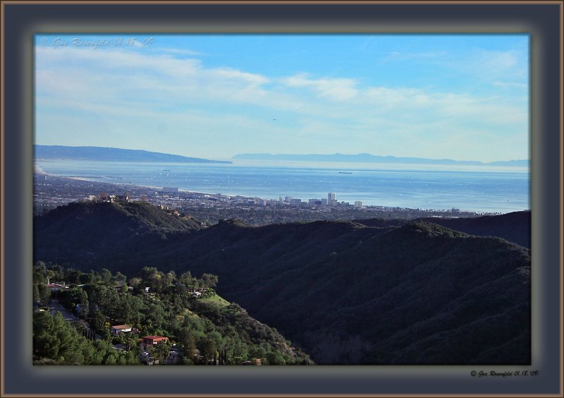 Palos Verdes - L Catalina Island - R Sailboats - everywhere Me - 1,200 Up From Sea Level You - ??