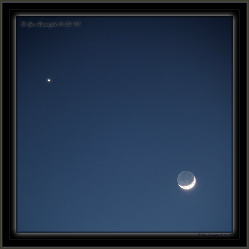 An Embracing Invitation To Venus From The New Moon To Party With The Old Moon