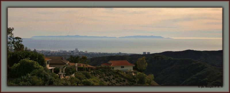 Postcard Genera Pano Of Santa Monica Bay & Catalina Island