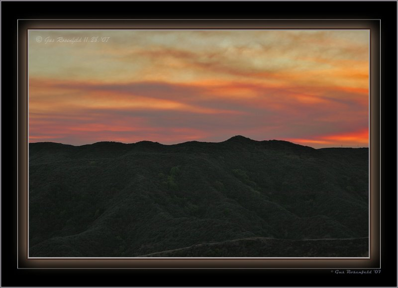 Smoke Laced Sky At Sunset In The Santa Monicas