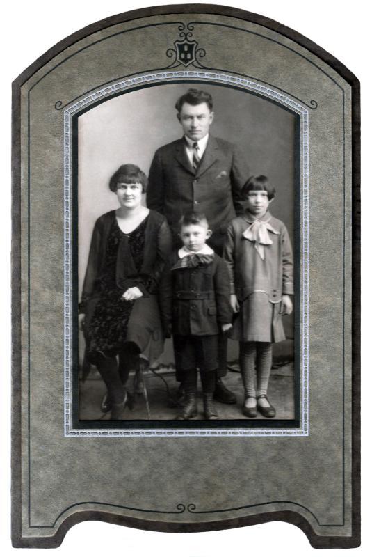 James & Edna McKenzie with Children