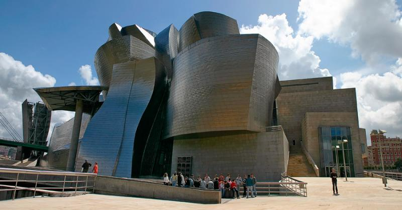 Guggenheim Museum - Bilbao, Spain <p> (With deep apologies to Mr. Gehry, for the heavily distorted perspective...)