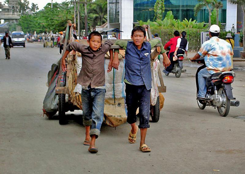 Pulling into Cambodia