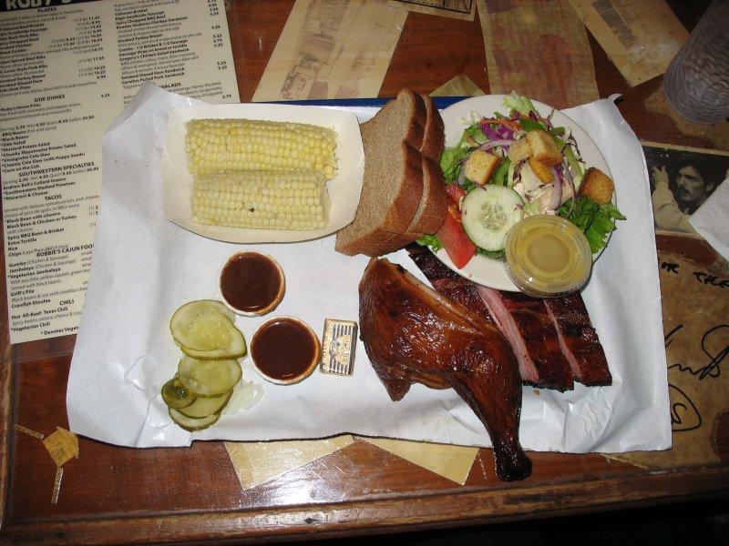 Barbeque dinner - Rubys BBQ, Austin