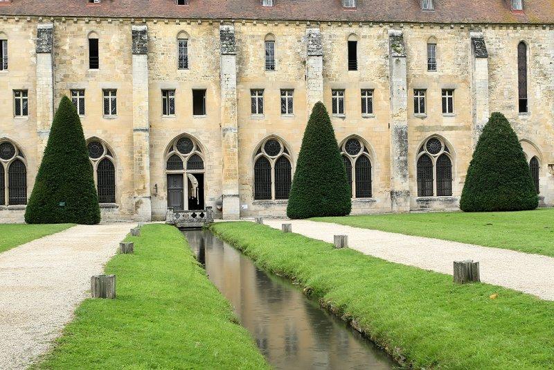 Visite de labbaye cistercienne de Royaumont (Val-dOise)