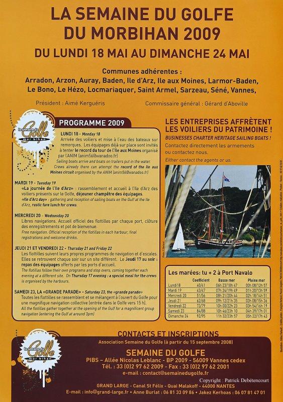 Semaine du Golfe 2009 - Plaquette dinformatvitation des équipages