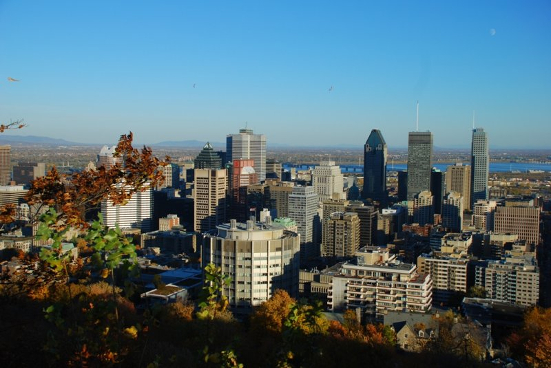 View of eastern side of Montreal Downtown