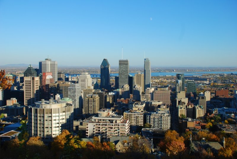 View of Eastern side of Montréal