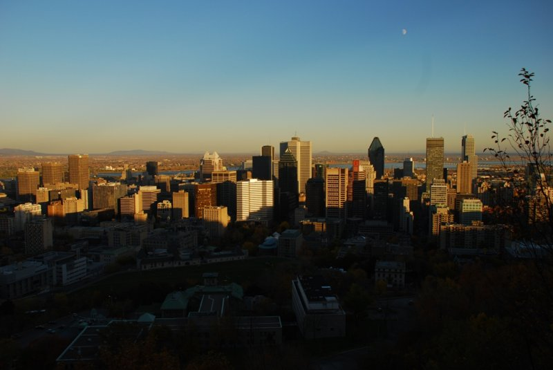 Montreal Downtown with Sunset