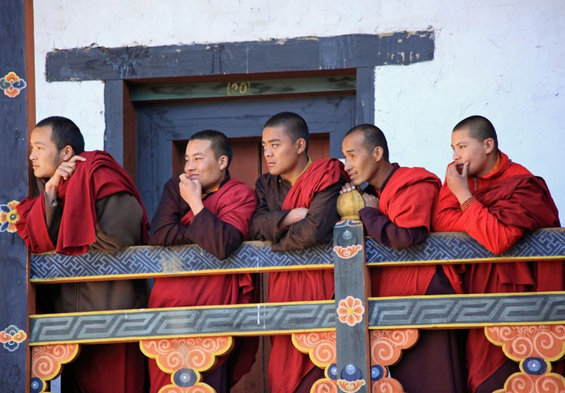 Monks at the festival