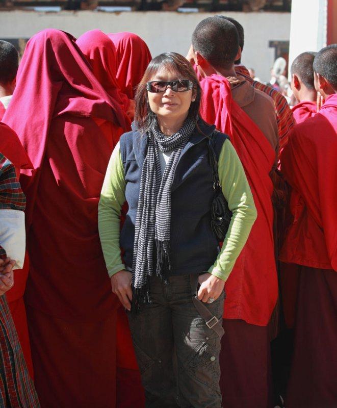 Lisa at Black-necked Crane Festival