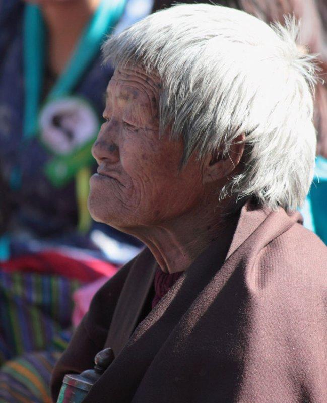 Old woman, Black-necked Crane Festival