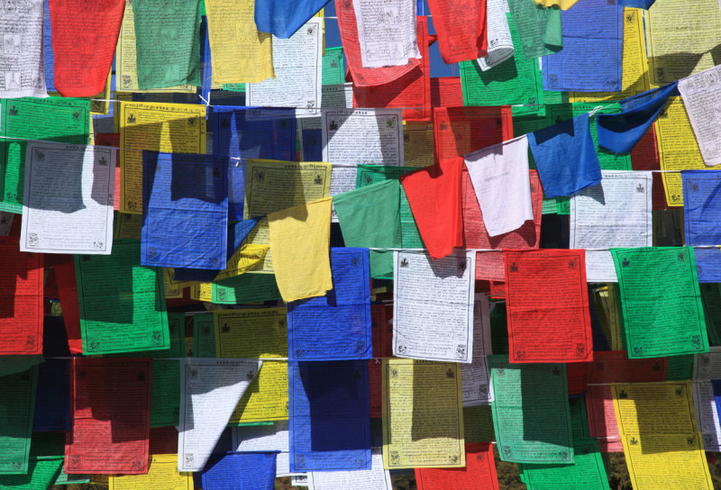 Prayer flags on the trail