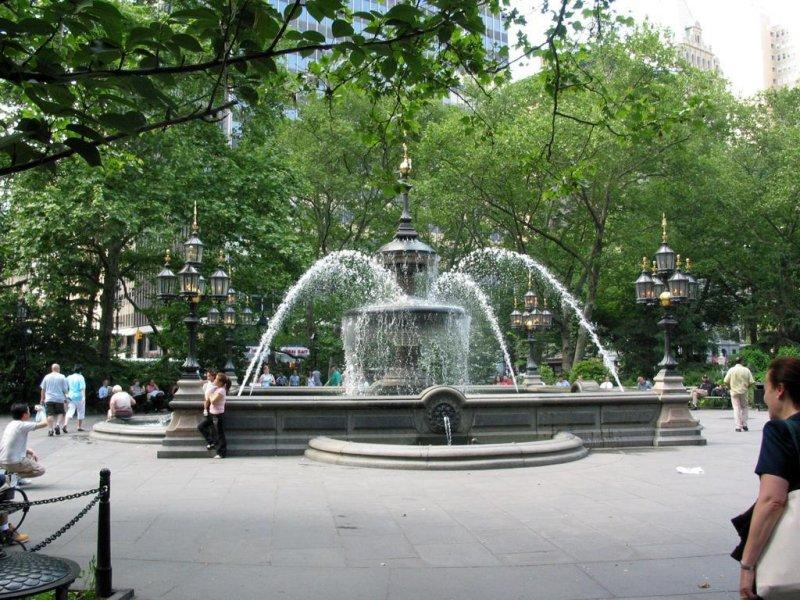 City Hall Park Fountain, NYC