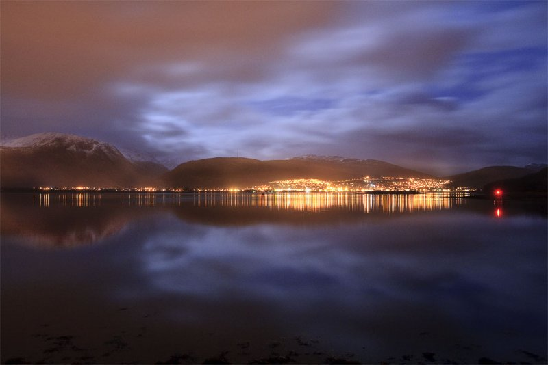 The Lights of Fort William and Ben Nevis