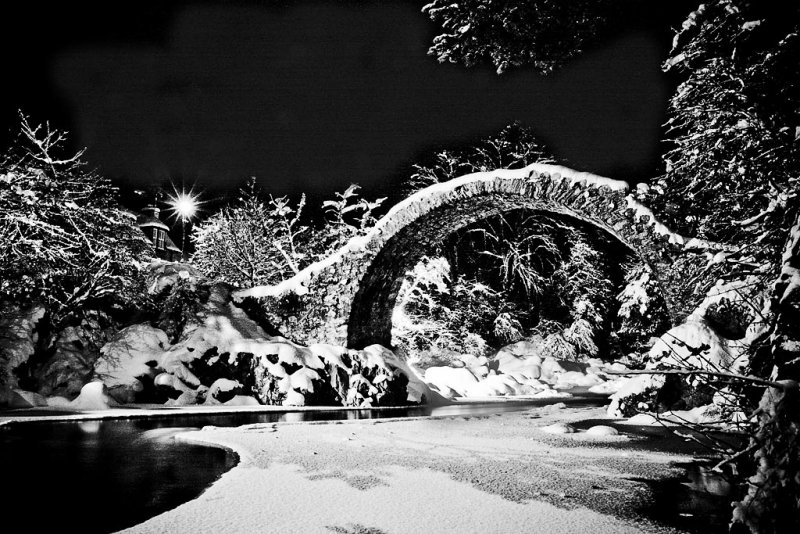 Night Bridge BW