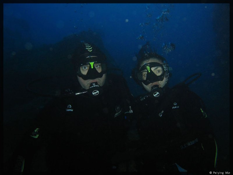 Us, looking good, 8 meters under Blue MaoMao Arch