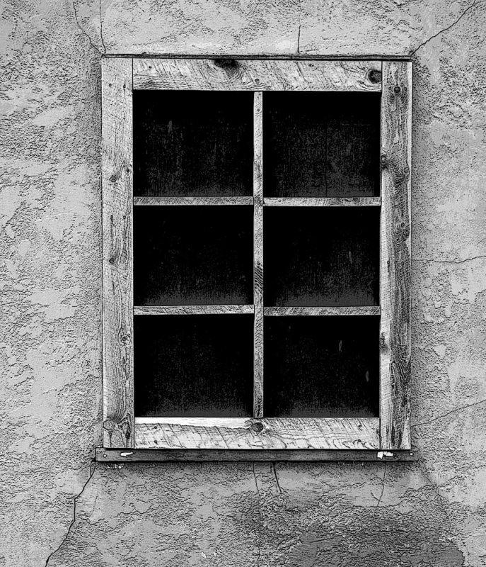 Window, Morman Row homestead, Yellowstone N.P.