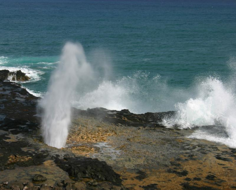 Blow Hole near Poi Pu