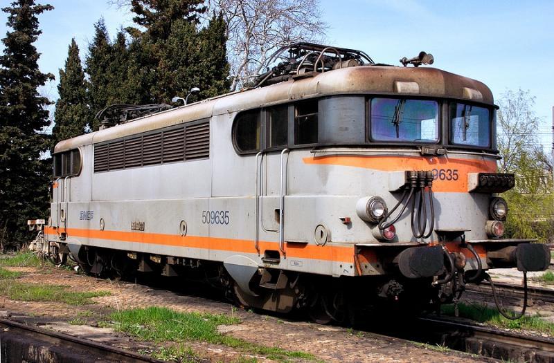 The BB9635 resting at Avignon depot.