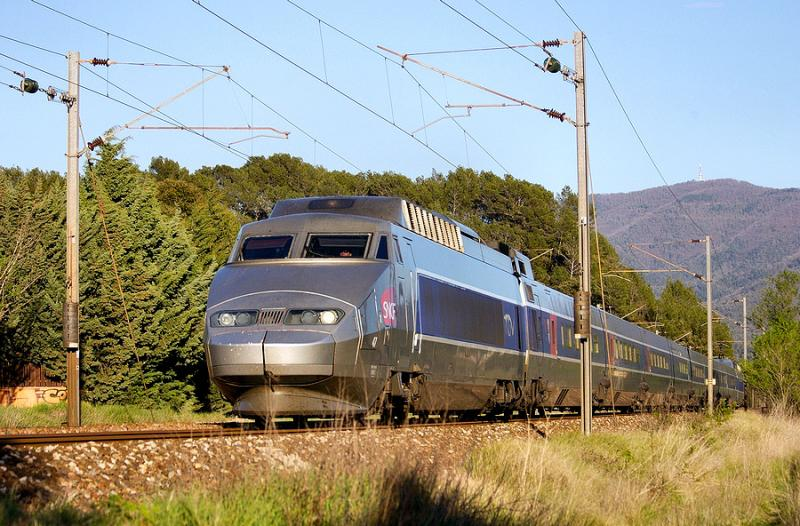A TGV Sud-Est not far from Carnoules.