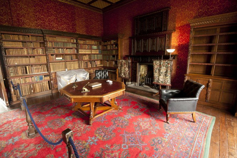 Chirk Castle - the library