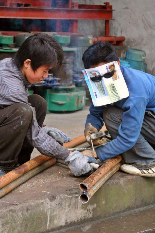 Welding and inventive.  Jishou City, Hunan Province, China