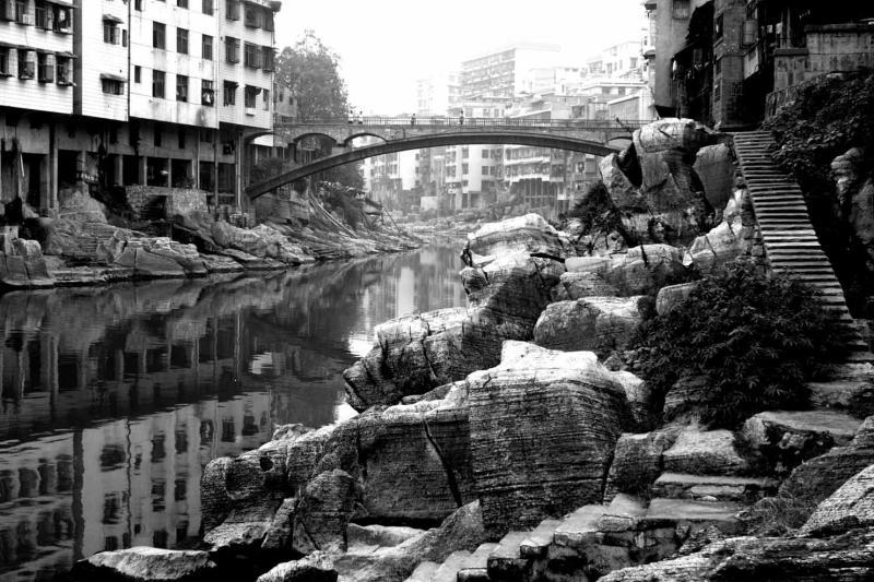 Jishou City, main river that flows through and around the city.