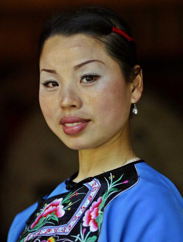 Miao Drum Princess. Dehang, China.