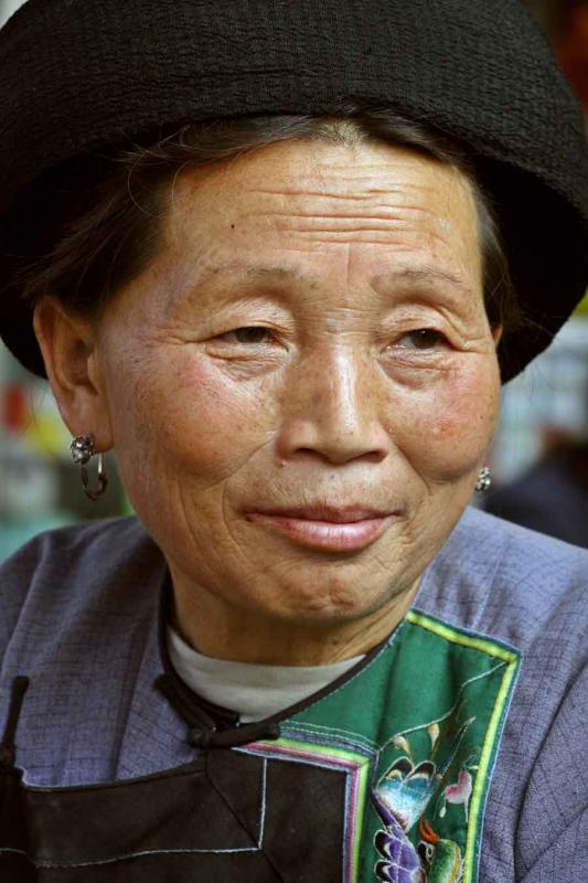 Miao Elder in Horseneck, China.