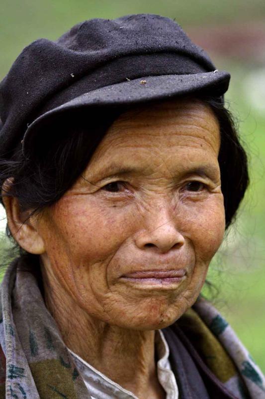 Elder near lake Zai Long, Wuling Mts, Hunan Province, China.