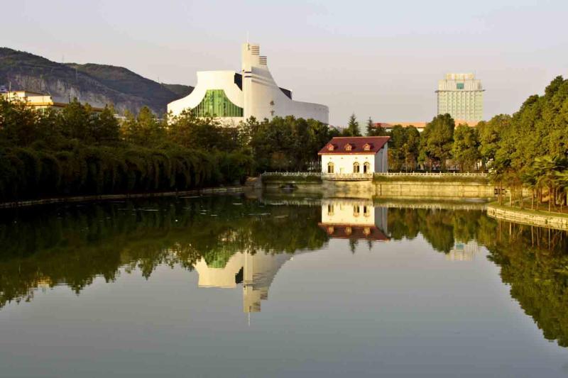 Lake at Jishou University Jishou City China.jpg