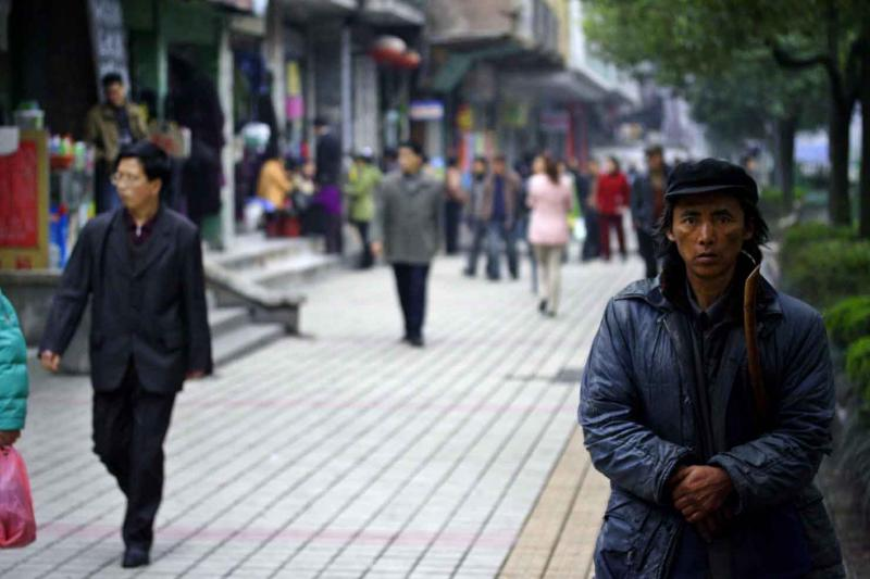 Not quite a face in the crowd. Jishou City, China.