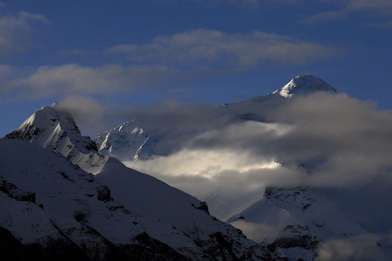 First light on Chomolungma (Mt. Everest).