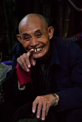 Smiling elder. Jishou City China. .jpg