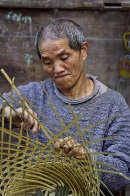 Basket maker. Dehang Village, China.