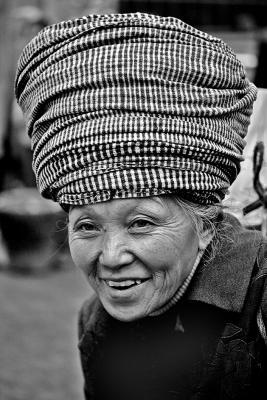 Elder in Jishou City, Hunan Province, China