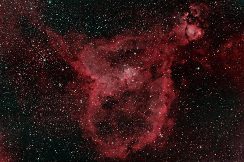 IC1805 - The Heart Nebula in Cassiopeia