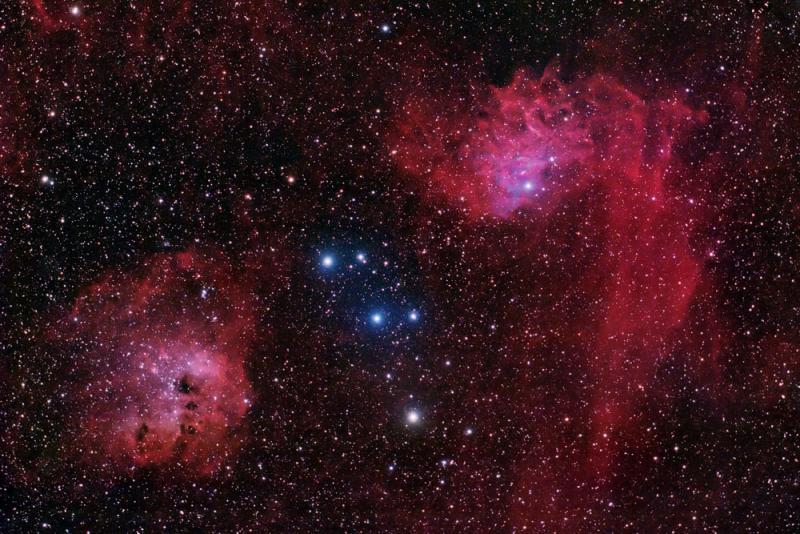 The Flaming Star Nebula ( IC405) in Auriga