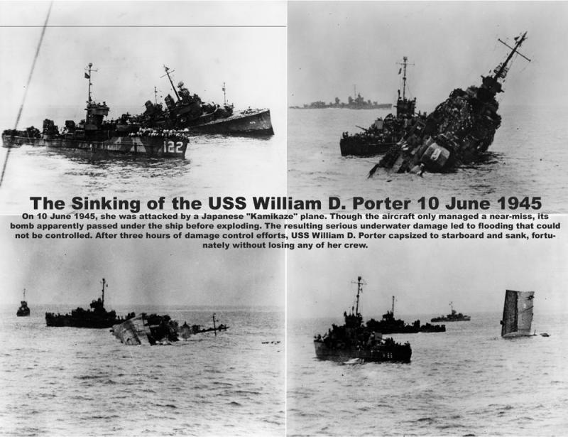 The sinking of the USS William D. Porter