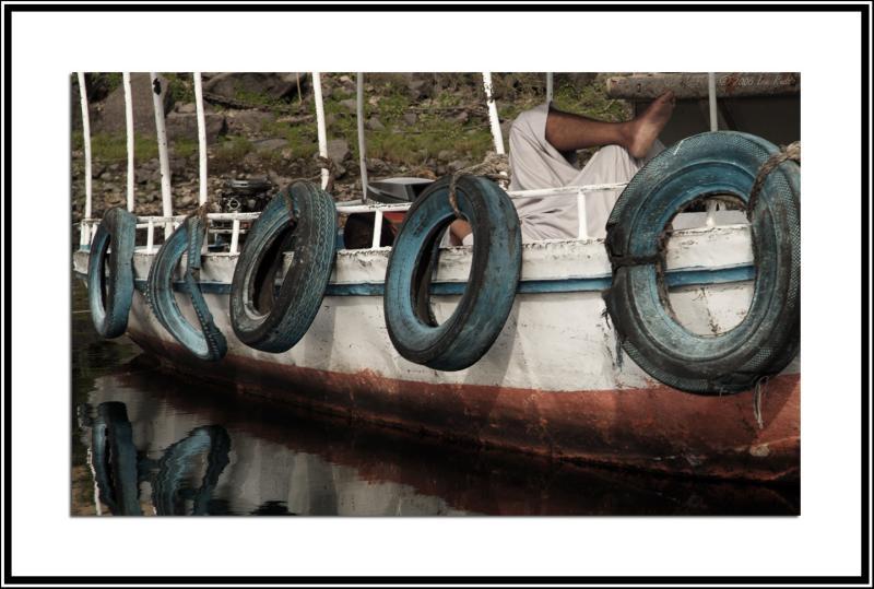 Reclining boatman