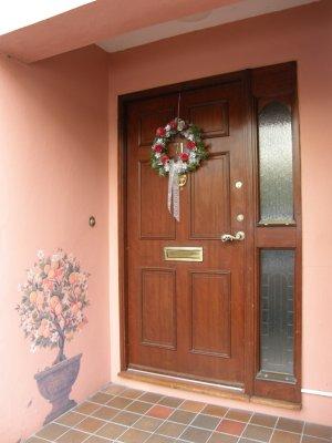 Painted and Peachy Doorway