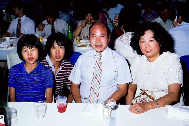 Leland, Lyndon, Dwight and Evelyn
