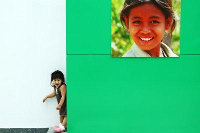 Outside The Timor-Leste Pavilion at Shanghai Expo, China, 2010