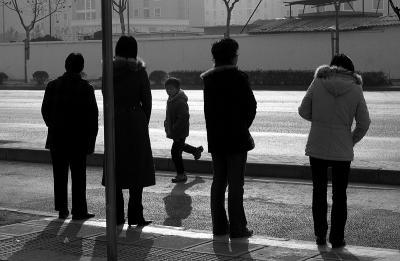Bus Stop, Pudong, Shanghai, China, 2005