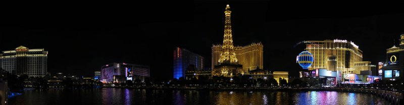 Las Vegas Boulevard from the Fountains of Bellagio