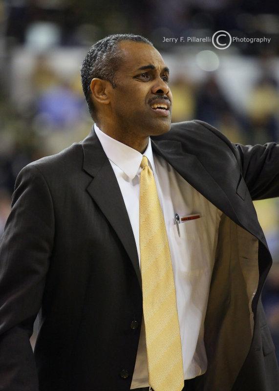 A worried Georgia Tech Head Coach Paul Hewitt