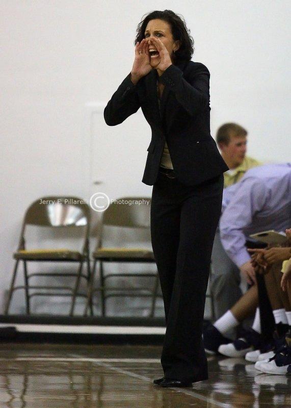 Georgia Tech Head Coach MaChelle Joseph calls out a play from the bench